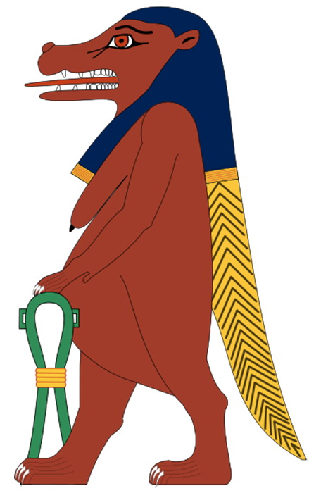 Так египтяне представляли богиню Таурт./Фото: wikipedia.org